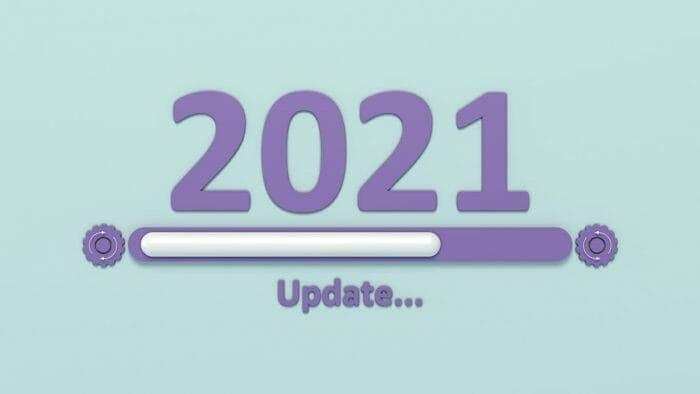 2021 digital concept text